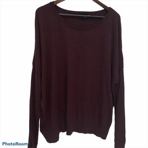 C'est Moi Burgundy Oversized Sweater O/S